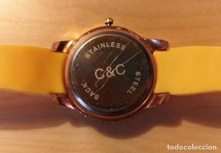 Relojes: Rg 22 Reloj muñeca plástico amarillo desmontado - Pora reparar - Sin pila - Diámetro 4cm - Foto 3 - 199391510