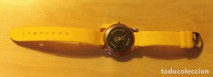 Relojes: Rg 22 Reloj muñeca plástico amarillo desmontado - Pora reparar - Sin pila - Diámetro 4cm - Foto 4 - 199391510