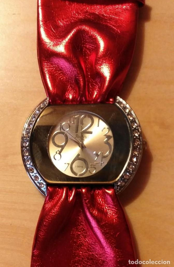 Relojes: Rg 24 Reloj muñeca / pulsera rojo brillante - Por estrenar - Sin pila - Diámetro 4cm - Foto 2 - 199402067