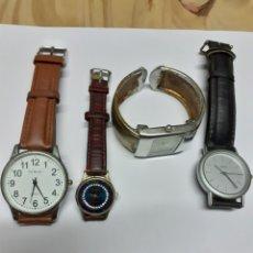 Relojes: LOTE DE 4 RELOJES DE CUARZO TODOS FUNCIONANDO PERFECTAMENTE, VER FOTOS. Lote 199424132