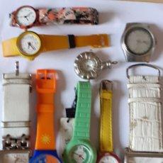 Relojes: LOTE DE 9 RELOJES DE CUARZO ,NO SE HAN PROBADO. Lote 199509368