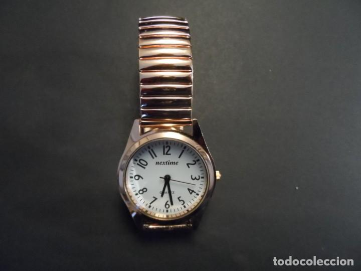 Relojes: RELOJ CORREA ELASTICA Y CAJA ACERO DORADO ORO ROJO. MARCA EXACTIME. ESFERA BLANCA. QUARTZ. SIGLO XXI - Foto 6 - 199757386