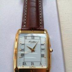 Relojes: RELOJ SUIZO MARCA KOLBER MODELO K8643 GOLD ELECTROPLATED 18K. CHAPADO EN ORO EN ESTUCHE ORIGINAL. Lote 200109291