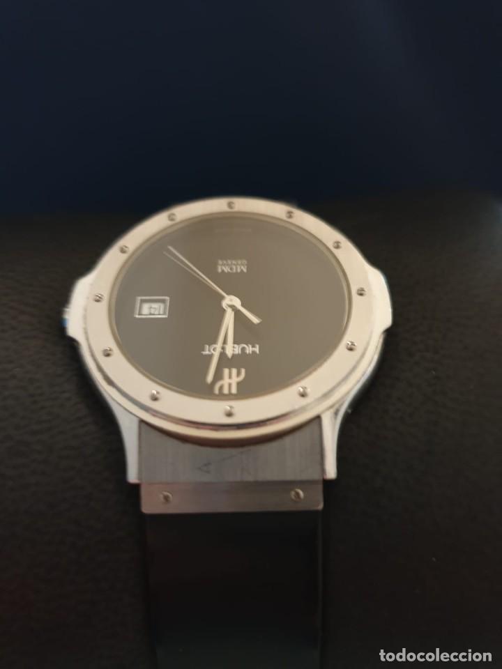Relojes: Reloj Hublot Classic Hombre/Unisex Correa Caucho 2004 Excelente Estado - Foto 7 - 200295836