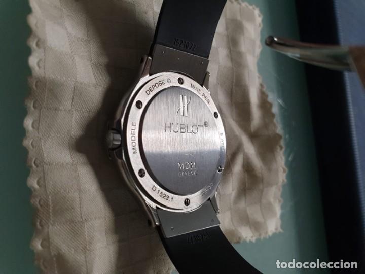 Relojes: Reloj Hublot Classic Hombre/Unisex Correa Caucho 2004 Excelente Estado - Foto 9 - 200295836