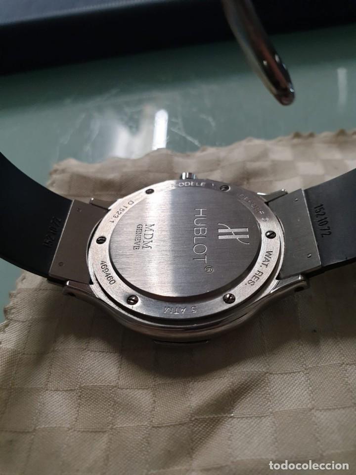 Relojes: Reloj Hublot Classic Hombre/Unisex Correa Caucho 2004 Excelente Estado - Foto 12 - 200295836
