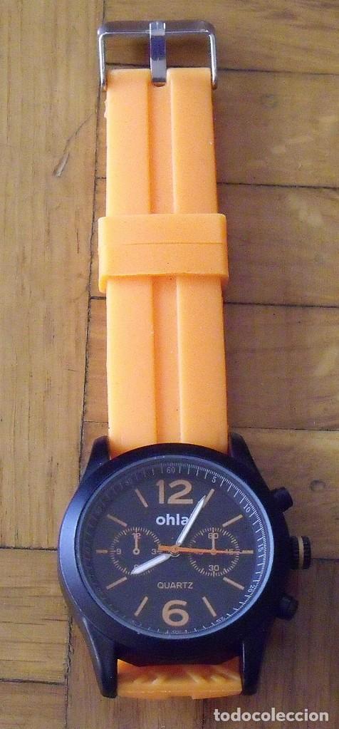 Relojes: Reloj Ohla. Quartz. Collection 1ATM. Correa caucho. 4 cm diámetro. 26 cm total. Sin pila. - Foto 2 - 200810132