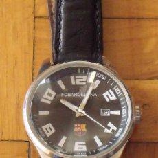 Relojes: F.C. BARCELONA. BARÇA. QUARTZ. CON ESCUDO. BUEN ESTADO. SIN PILA. 4 CM DIÁMETRO. 24 CM TOTAL.. Lote 200810690