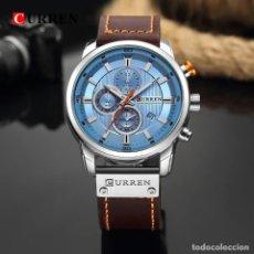 Relojes: RELOJ HOMBRE QUARTZ CON CALENDARIO. RELOJ CON PULSERA DE CUERO.. Lote 200811690