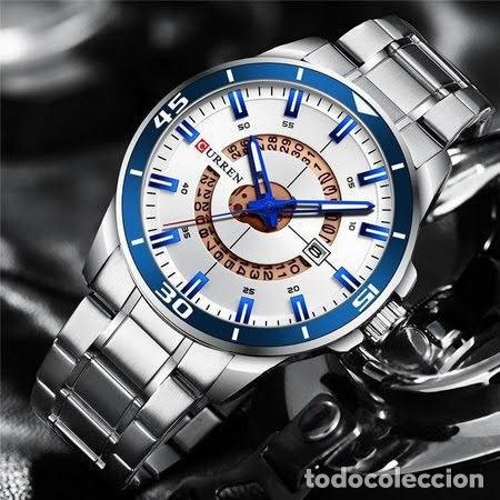 Relojes: Reloj hombre quartz con calendario. Caja y correa acero inox. - Foto 2 - 200811976