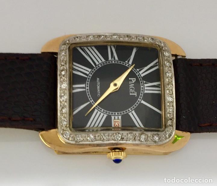 Relojes: PIAGET ORO 18KTS.-BRILLANTES-COMO NUEVO. - Foto 2 - 197153343