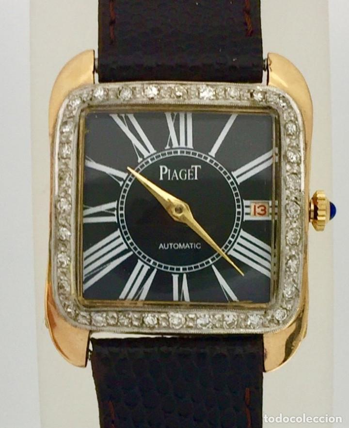 Relojes: PIAGET ORO 18KTS.-BRILLANTES-COMO NUEVO. - Foto 4 - 197153343