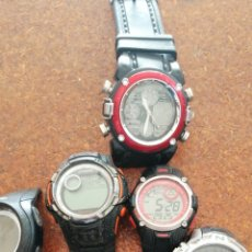 Relojes: LOTE DE DIEZ RELOJES DIGITALES. Lote 202348553