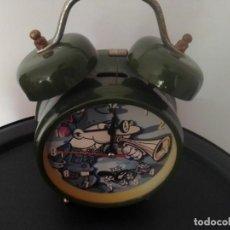 Relojes: RELOJ DESPERTADOR MORTADELO Y FILEMÓN AÑO 2002. Lote 202525330