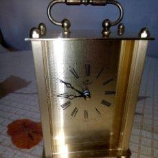 Relojes: RELOJ DE MESA ROYAL. QUARZT. FUNCIONANDO. GERMANO. PERFECTO. METAL. DESCRIP. Y FOTOS.. Lote 203325978