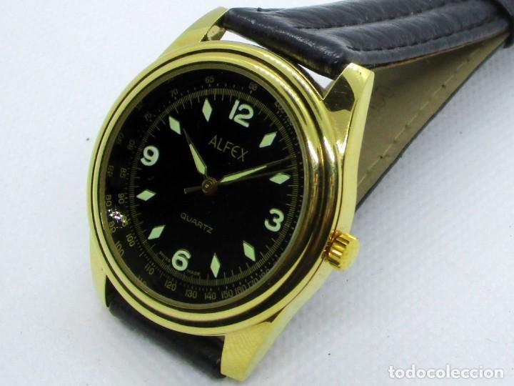 ALFEX DE CUARZO SUIZO AÑOS 90 (Relojes - Relojes Actuales - Otros)