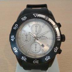 Relojes: RELOJ CUARZO CALENDARIO GOMA. Lote 204517221