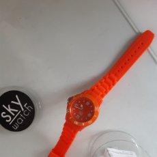 Relojes: RELOJ CAUCHO NARANJA. Lote 204838507