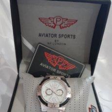 Relojes: RELOJ HOMBRE AVIATOR SPORT BY NY LONDON REF: 7195, NÍQUEL DIÁMETRO MUÑECA 38.5 MM. 144.83 GRAMOS. Lote 205188496