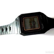 Relojes: RELOJ INFANTIL -DIGITAL - QUARTZ - AÑOS 80 - EN PANTALLA LLEVA ESCUDO FC. BARCELONA - NO FUNCIONA. Lote 205271542