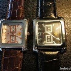 Relojes: 2 RELOJES DE PULSERA MUY GRANDES DE IMITACION QUARTZ FUNCIONANDO 4X4,9 CM. Lote 206356293