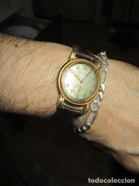 Relojes: MARCA HUMA RELOJ ANTIGUO PULSERA CABALLERO CHAPADO EN ORO CONTRASTE RARO FUNCIONANDO - Foto 18 - 128600183