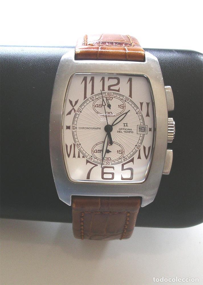 OFFICINA DEL TEMPO RELOJ, CALENDARIO, COMO NUEVO FUNCIONA. MED. 3,40 CM SIN CONTAR CORONA (Relojes - Relojes Actuales - Otros)