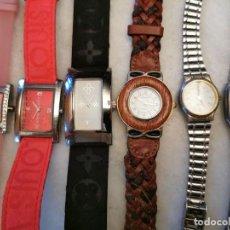 Relojes: LOTE DE RELOJES DE QUARTZ, 2 LOUIS VUITTON, THERMIDOR, OSIROCH, CD SELECCION,, ELUX. Lote 207648718