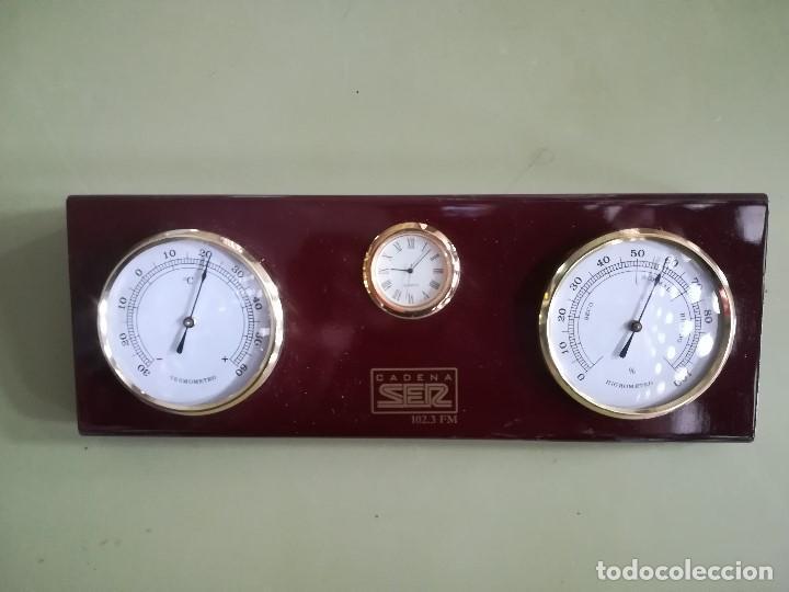 RELOJ, HIGROMETRO Y TERMOMETRO. CADENA SER (Relojes - Relojes Actuales - Otros)