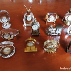 Relojes: COLECCION DE 12 RELOJES MINIATURA LE TEMPS. Lote 207756685