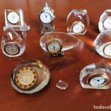 Relojes: LOTE DE 9 RELOJES DE COLECCION EN MINIATURA LE TEMPS. Lote 207757446