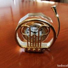 Relojes: RELOJ EN FORMA DE TUBA DE COLECCION EN MINIATURA LE TEMPS. Lote 207758980