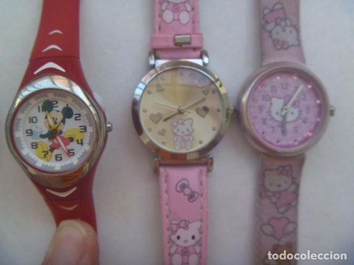 Relojes: LOTE DE 5 RELOJES INFANTILES: HELLO KITTY, MICKEY MOUSE, FLIK-FLAK, ETC - Foto 3 - 208292616