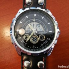 Relojes: CURIOSO RELOJ C&C Nº 152 QUARTZ - CRONOGRAFO ALARMA WR 50 METROS FUNCIONANDO. Lote 209127631