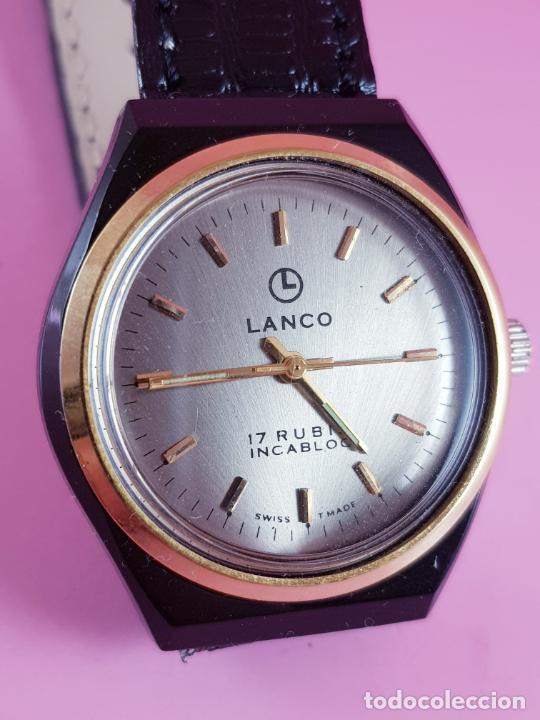 Relojes: ANTIGUO RELOJ-SUIZO-LANCO-FUNCIONANDO PERFECTAMENTE-VER FOTOS. - Foto 2 - 53557518