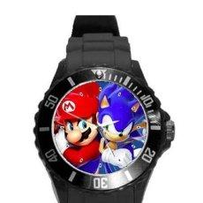 Relojes: RELOJ WATCH MONTRE SUPER MARIO BROS, SONIC THE HEDGEHOG (CORREA DE SILICONA). Lote 210526771