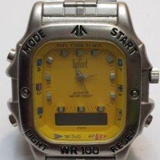 Relojes: RELOJ DUMONT ANALOGICO DIGITAL 1ST SUB ESFERA AMARILLA. Lote 210962426