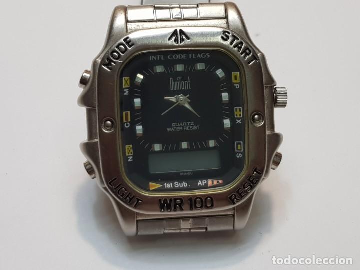 RELOJ DUMONT ANALOGICO DIGITAL 1ST SUB ESFERA NEGRA (Relojes - Relojes Actuales - Otros)