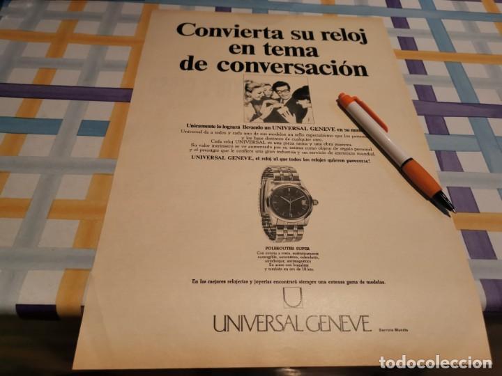 RELOJ UNIVERSAL GENEVE ANUNCIO PUBLICIDAD REVISTA 1968 POSIBLE RECOGIDA MALLORCA (Relojes - Relojes Actuales - Otros)