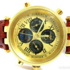 Relojes: PERIGAUM - ALTA CALIDAD PRECIOSO RELOJ CRONOGRAFO ESFERA COLOR ORO (Q) NUEVO. VER FOTOS. Lote 211802296