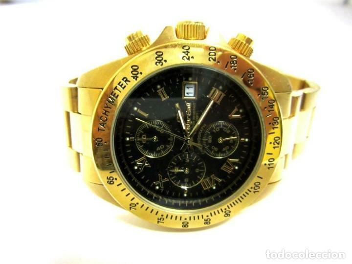 OSKAR EMIL- RELOJ DE PULSERA CON CORREA METÁLICA CRONOGRAFO ESFERA COLOR ORO (Q) NUEVO. VER FOTOS (Relojes - Relojes Actuales - Otros)