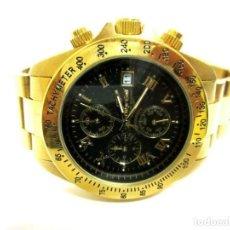 Relojes: OSKAR EMIL- RELOJ DE PULSERA CON CORREA METÁLICA CRONOGRAFO ESFERA COLOR ORO (Q) NUEVO. VER FOTOS. Lote 211802646