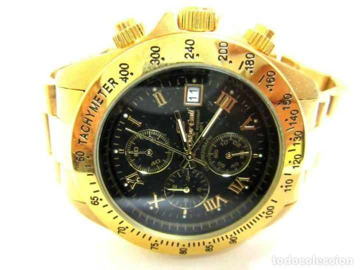 Relojes: Oskar Emil- reloj de pulsera con correa metálica cronografo esfera color oro (Q) nuevo. ver fotos - Foto 2 - 211802646
