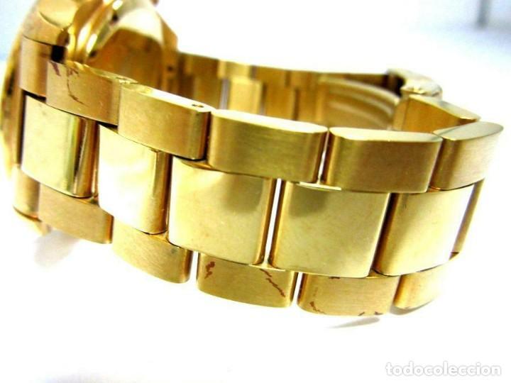 Relojes: Oskar Emil- reloj de pulsera con correa metálica cronografo esfera color oro (Q) nuevo. ver fotos - Foto 3 - 211802646