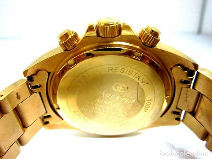 Relojes: Oskar Emil- reloj de pulsera con correa metálica cronografo esfera color oro (Q) nuevo. ver fotos - Foto 4 - 211802646