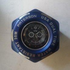 Relojes: RELOJ PATERSON (U.S.A.)DUAL TIME. CHRONOGRAPH RUBBER.WR.30M. NUEVO A ESTRENAR.CON SU CAJA.. Lote 212163203