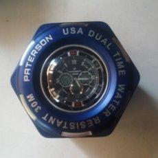 Relojes: RELOJ PATERSON (U.S.A.)DUAL TIME. CHRONOGRAPH S.STEEL..WR.30M. NUEVO A ESTRENAR.CON SU CAJA.. Lote 212163632