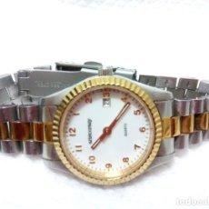 Relojes: RELOJ ACERO MARCA ARISTOCRAZY. MODELO MUSTIQUE 119. PERFECTAS CONDICIONES.. Lote 212320580