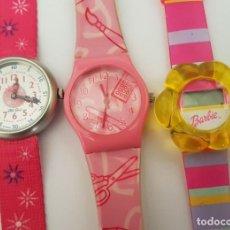 Relojes: LOTE DE RELOJES DE NIÑA, BARBIE Y OTROS * NECESITAN BATERIA. Lote 213238077
