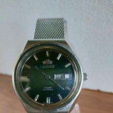 Relojes: RELOJ CABALLERO (VINTAGE) ORIENT AUTOMÁTICO ACERO CON DOBLE CALENDARIO, CORREA ACERO, TODO ORIGINAL.. Lote 213094892